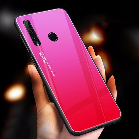 Silikon Schutzhülle Rahmen Tasche Hülle Spiegel Farbverlauf Regenbogen für Huawei Honor 20 Lite Pink