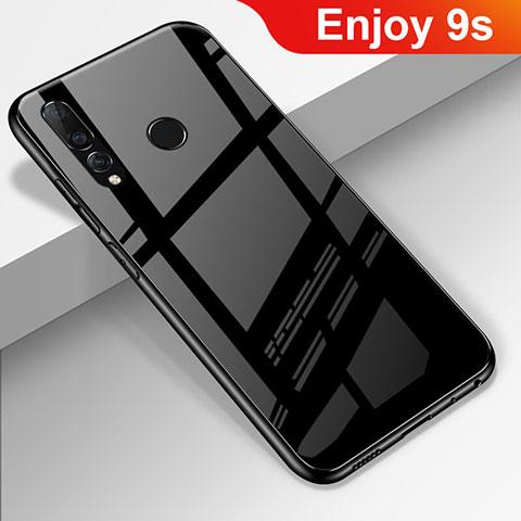 Silikon Schutzhülle Rahmen Tasche Hülle Spiegel für Huawei Honor 20 Lite Schwarz