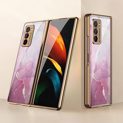 Silikon Schutzhülle Rahmen Tasche Hülle Spiegel für Samsung Galaxy Z Fold2 5G Rosa