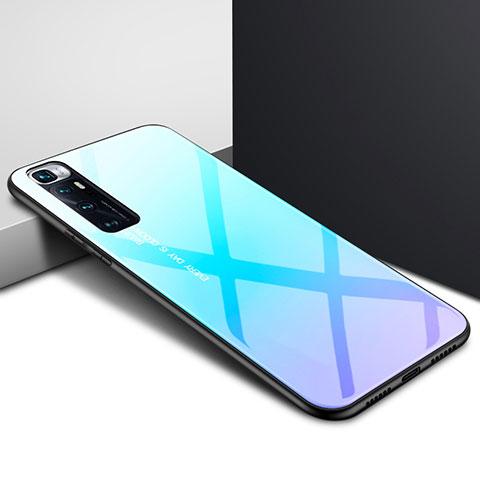 Silikon Schutzhülle Rahmen Tasche Hülle Spiegel für Xiaomi Mi 10 Ultra Hellblau
