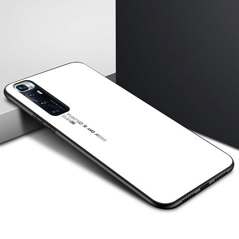 Silikon Schutzhülle Rahmen Tasche Hülle Spiegel für Xiaomi Mi 10 Ultra Weiß