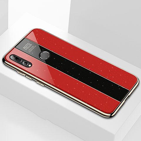 Silikon Schutzhülle Rahmen Tasche Hülle Spiegel M02 für Huawei Honor 20 Lite Rot