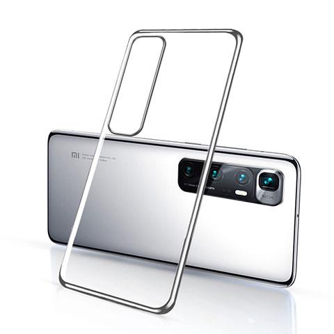 Silikon Schutzhülle Ultra Dünn Flexible Tasche Durchsichtig Transparent H03 für Xiaomi Mi 10 Ultra Silber