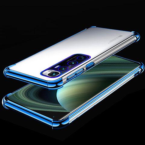 Silikon Schutzhülle Ultra Dünn Flexible Tasche Durchsichtig Transparent H04 für Xiaomi Mi 10 Ultra Blau