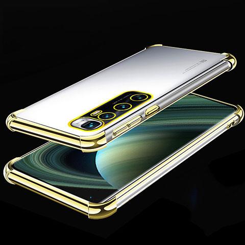 Silikon Schutzhülle Ultra Dünn Flexible Tasche Durchsichtig Transparent H04 für Xiaomi Mi 10 Ultra Gold