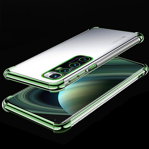 Silikon Schutzhülle Ultra Dünn Flexible Tasche Durchsichtig Transparent H04 für Xiaomi Mi 10 Ultra Grün