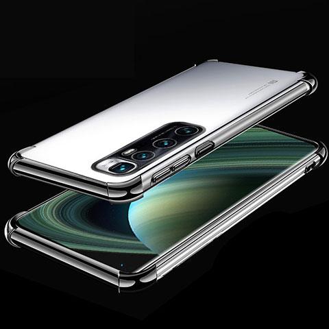 Silikon Schutzhülle Ultra Dünn Flexible Tasche Durchsichtig Transparent H04 für Xiaomi Mi 10 Ultra Schwarz