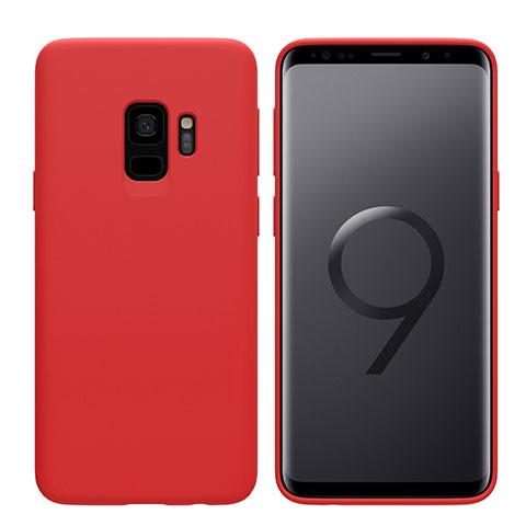 Silikon Schutzhülle Ultra Dünn Hülle S03 für Samsung Galaxy S9 Rot