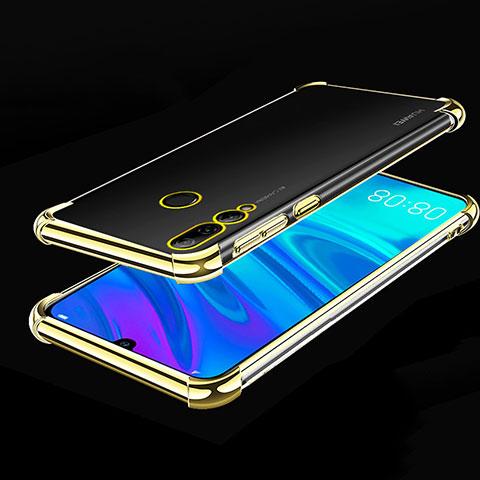 Silikon Schutzhülle Ultra Dünn Tasche Durchsichtig Transparent H01 für Huawei Honor 20 Lite Gold