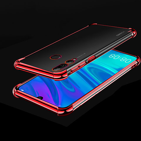 Silikon Schutzhülle Ultra Dünn Tasche Durchsichtig Transparent H01 für Huawei Honor 20 Lite Rot