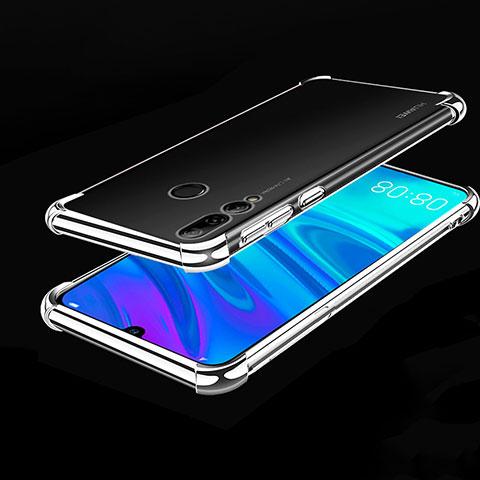 Silikon Schutzhülle Ultra Dünn Tasche Durchsichtig Transparent H01 für Huawei Honor 20 Lite Silber