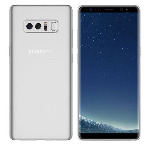 Silikon Schutzhülle Ultra Dünn Tasche Durchsichtig Transparent H01 für Samsung Galaxy Note 8 Klar