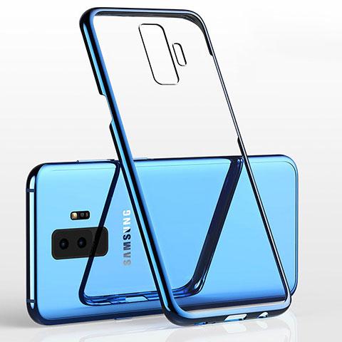 Silikon Schutzhülle Ultra Dünn Tasche Durchsichtig Transparent H02 für Samsung Galaxy S9 Plus Blau