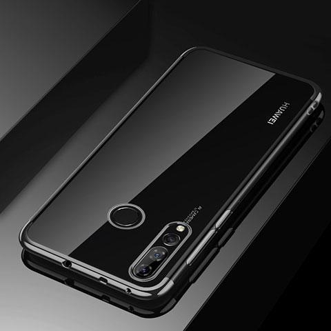 Silikon Schutzhülle Ultra Dünn Tasche Durchsichtig Transparent H03 für Huawei Honor 20 Lite Schwarz