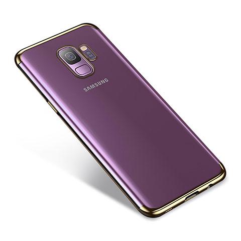 Silikon Schutzhülle Ultra Dünn Tasche Durchsichtig Transparent H03 für Samsung Galaxy S9 Gold