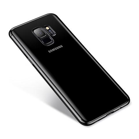 Silikon Schutzhülle Ultra Dünn Tasche Durchsichtig Transparent H03 für Samsung Galaxy S9 Schwarz