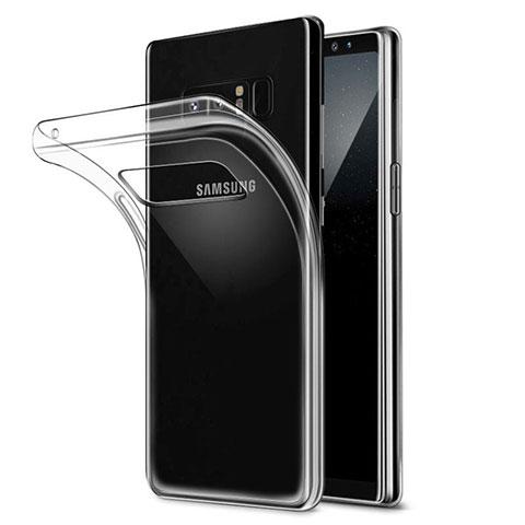 Silikon Schutzhülle Ultra Dünn Tasche Durchsichtig Transparent H04 für Samsung Galaxy Note 8 Klar