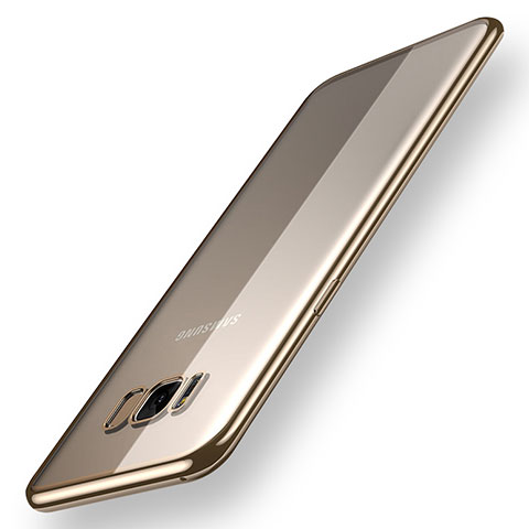 Silikon Schutzhülle Ultra Dünn Tasche Durchsichtig Transparent H05 für Samsung Galaxy S8 Plus Gold