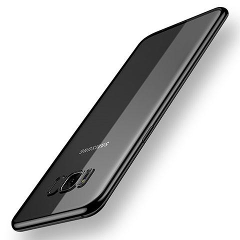 Silikon Schutzhülle Ultra Dünn Tasche Durchsichtig Transparent H05 für Samsung Galaxy S8 Plus Schwarz