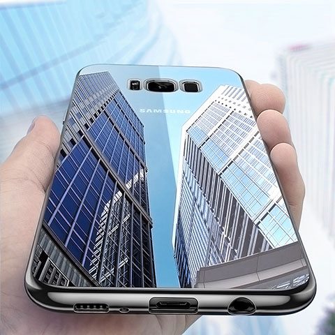 Silikon Schutzhülle Ultra Dünn Tasche Durchsichtig Transparent H06 für Samsung Galaxy S8 Plus Schwarz