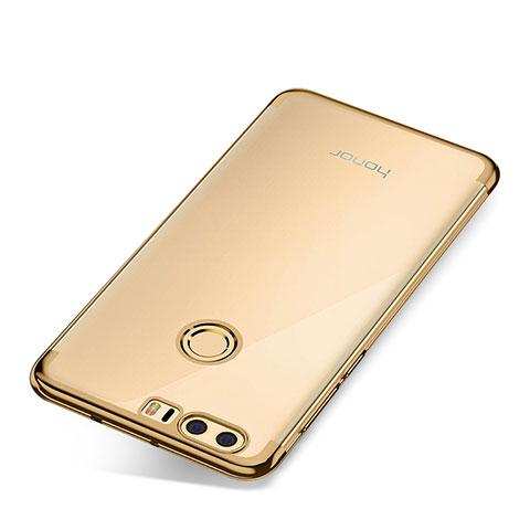 Silikon Schutzhülle Ultra Dünn Tasche Durchsichtig Transparent S01 für Huawei Honor 8 Gold