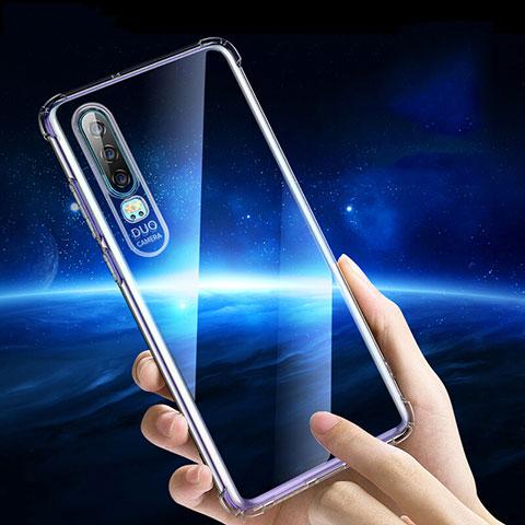 Silikon Schutzhülle Ultra Dünn Tasche Durchsichtig Transparent T05 für Huawei P30 Klar