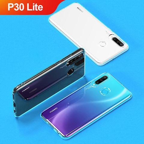 Silikon Schutzhülle Ultra Dünn Tasche Durchsichtig Transparent T05 für Huawei P30 Lite Klar