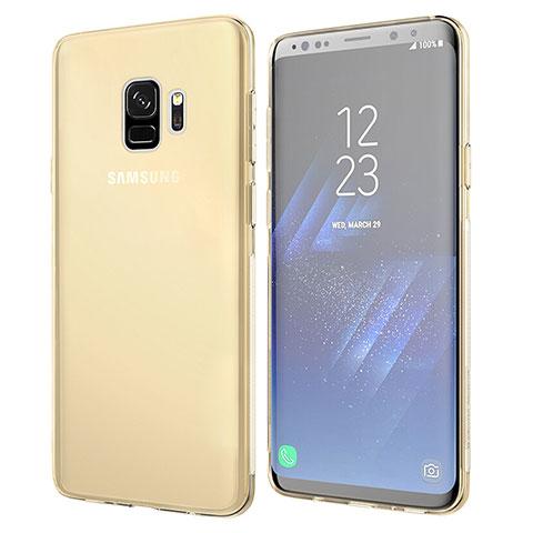 Silikon Schutzhülle Ultra Dünn Tasche Durchsichtig Transparent T07 für Samsung Galaxy S9 Gold