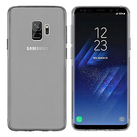 Silikon Schutzhülle Ultra Dünn Tasche Durchsichtig Transparent T07 für Samsung Galaxy S9 Grau