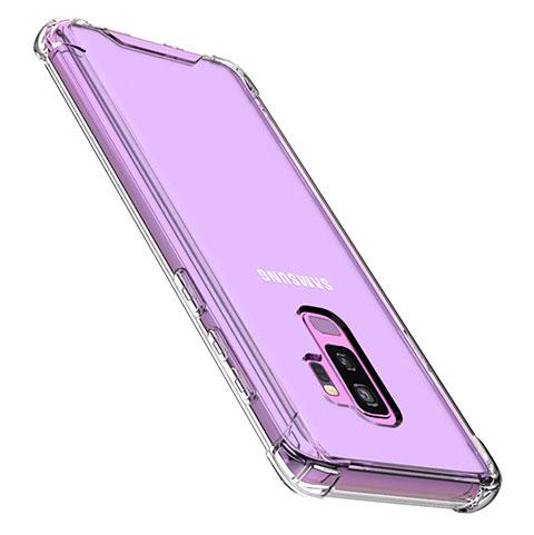 Silikon Schutzhülle Ultra Dünn Tasche Durchsichtig Transparent T07 für Samsung Galaxy S9 Plus Klar