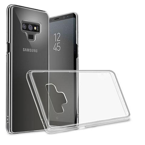 Silikon Schutzhülle Ultra Dünn Tasche Durchsichtig Transparent T09 für Samsung Galaxy Note 9 Schwarz