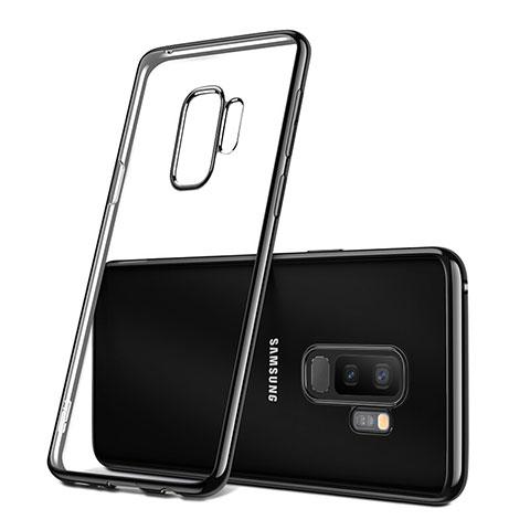 Silikon Schutzhülle Ultra Dünn Tasche Durchsichtig Transparent T09 für Samsung Galaxy S9 Plus Schwarz