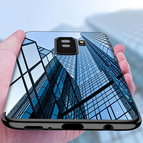 Silikon Schutzhülle Ultra Dünn Tasche Durchsichtig Transparent T18 für Samsung Galaxy S9 Plus Schwarz