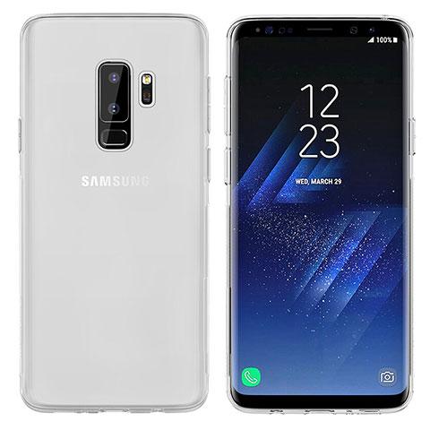 Silikon Schutzhülle Ultra Dünn Tasche Durchsichtig Transparent T20 für Samsung Galaxy S9 Plus Weiß