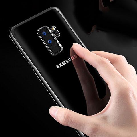Silikon Schutzhülle Ultra Dünn Tasche Durchsichtig Transparent T23 für Samsung Galaxy S9 Plus Weiß