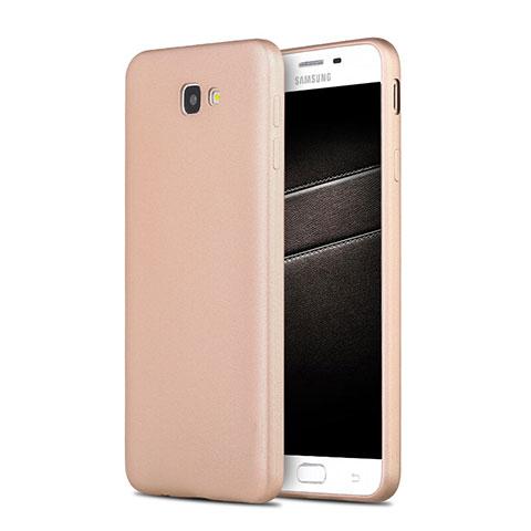 Silikon Schutzhülle Ultra Dünn Tasche S03 für Samsung Galaxy On7 (2016) G6100 Gold