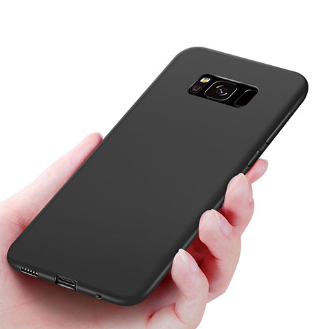 Silikon Schutzhülle Ultra Dünn Tasche S06 für Samsung Galaxy S8 Schwarz