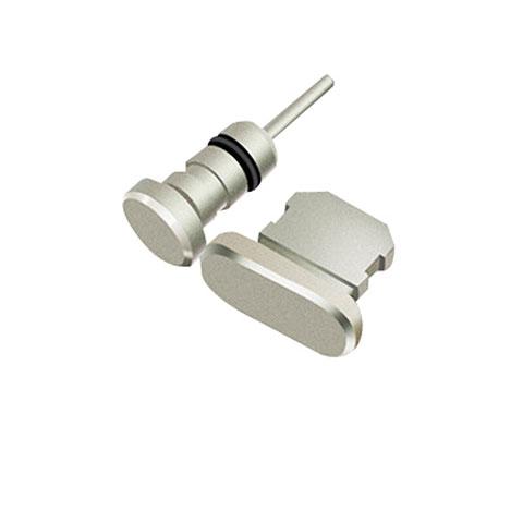 Staubschutz Stöpsel Passend Lightning USB Jack J01 für Apple iPhone 11 Pro Max Silber