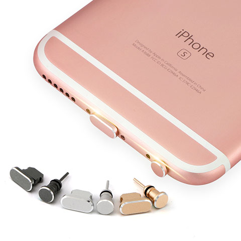 Staubschutz Stöpsel Passend Lightning USB Jack J04 für Apple iPhone 11 Rosegold