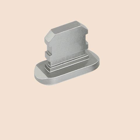 Staubschutz Stöpsel Passend Lightning USB Jack J06 für Apple iPhone 11 Pro Grau