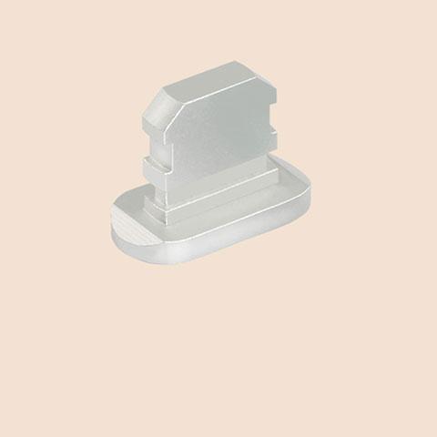 Staubschutz Stöpsel Passend Lightning USB Jack J06 für Apple iPhone 11 Pro Silber