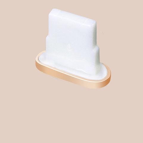 Staubschutz Stöpsel Passend Lightning USB Jack J07 für Apple iPhone 11 Gold