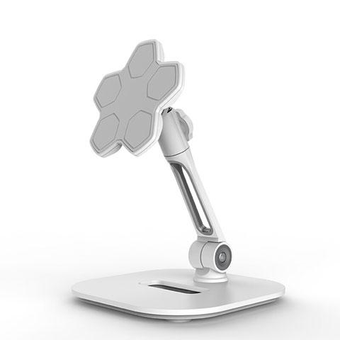 Universal Faltbare Ständer Tablet Halter Halterung Flexibel H03 für Apple iPad Pro 12.9 (2020) Weiß