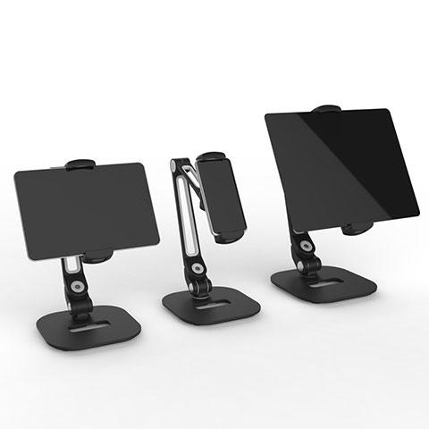 Universal Faltbare Ständer Tablet Halter Halterung Flexibel T44 für Apple New iPad 9.7 (2018) Schwarz