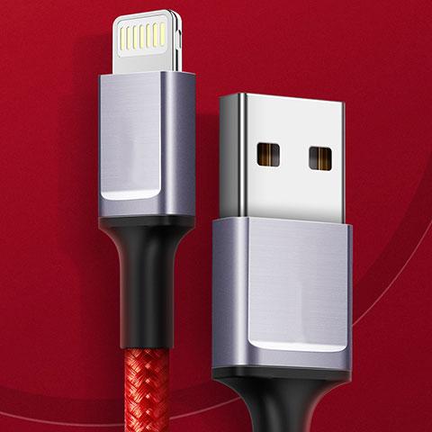USB Ladekabel Kabel C03 für Apple iPhone 11 Pro Rot