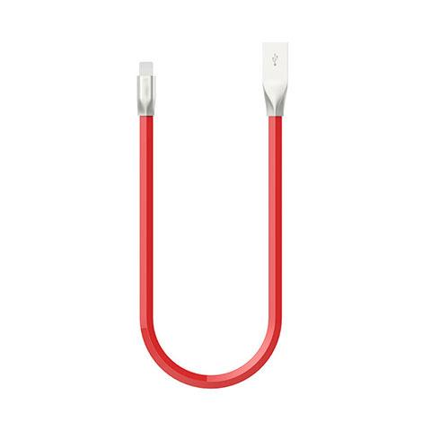 USB Ladekabel Kabel C06 für Apple iPhone 11 Pro Rot