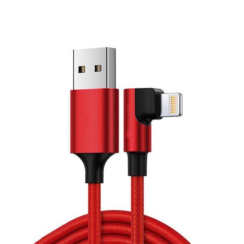 USB Ladekabel Kabel C10 für Apple iPhone 11 Pro Rot