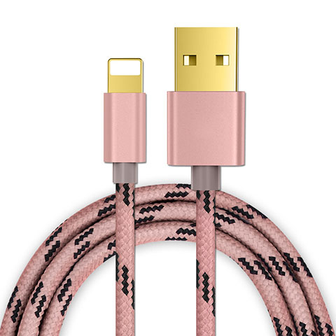 USB Ladekabel Kabel L01 für Apple iPhone 11 Rosegold