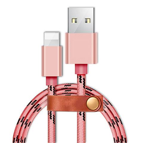 USB Ladekabel Kabel L05 für Apple iPhone 11 Rosa