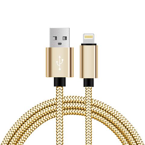 USB Ladekabel Kabel L07 für Apple iPhone 11 Gold